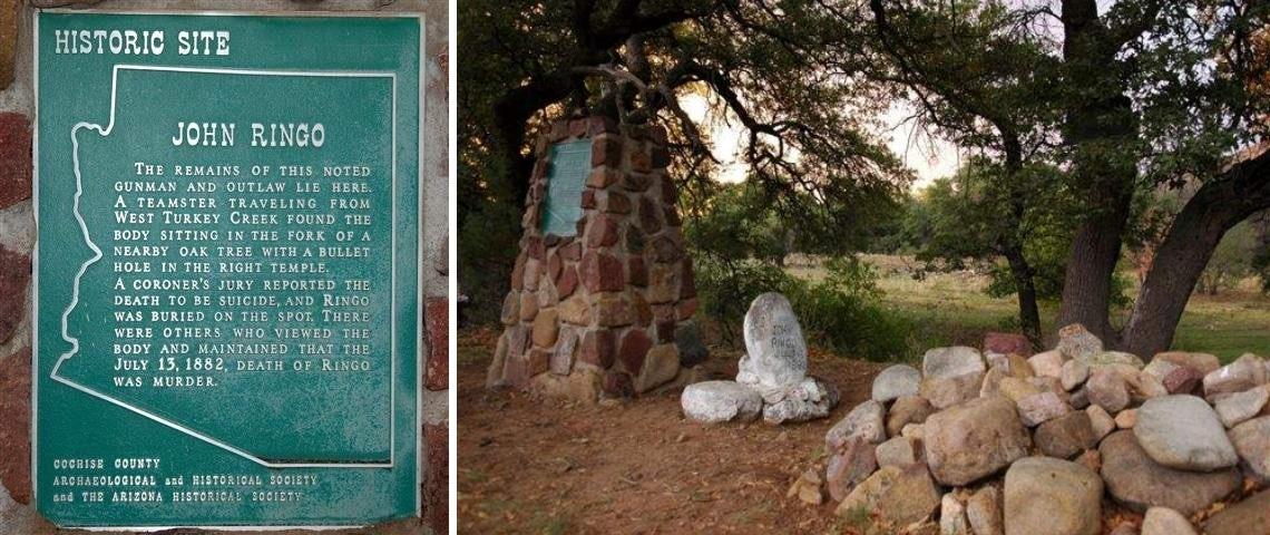 Johnny Ringo's Grave in Cochise Co., AZ.